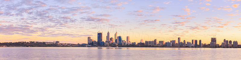 Perth and the Swan River at Sunrise, 21st August 2011