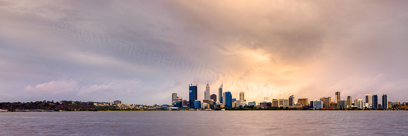 Perth and the Swan River at Sunrise, 22nd August 2011
