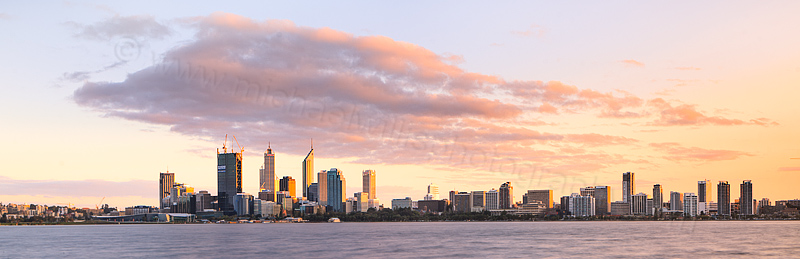 Perth and the Swan River at Sunrise, 23rd August 2011