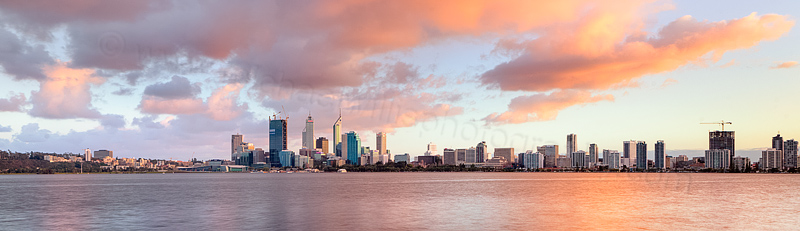 Perth and the Swan River at Sunrise, 24th August 2011