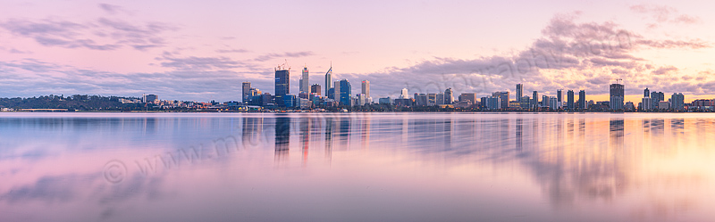 Perth and the Swan River at Sunrise, 28th August 2011