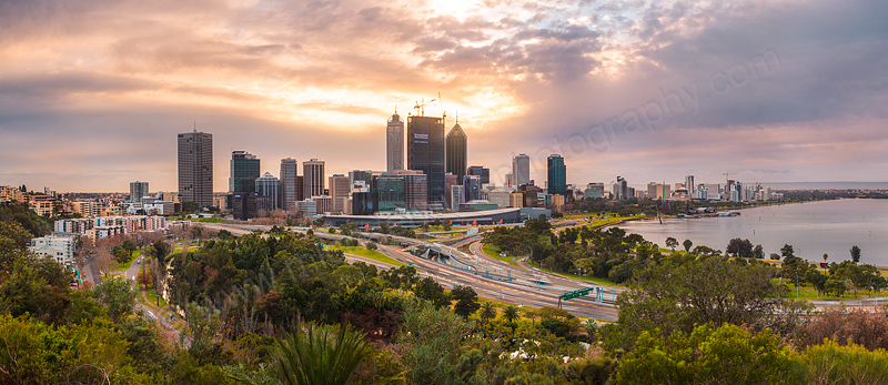 Perth City Sunrise, 8th August 2011