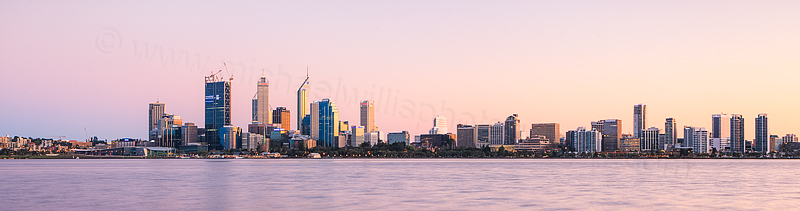 Perth and the Swan River at Sunrise, 10th September 2015