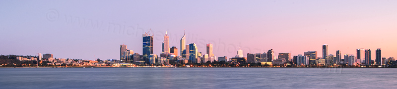 Perth and the Swan River at Sunrise, 11th September 2011