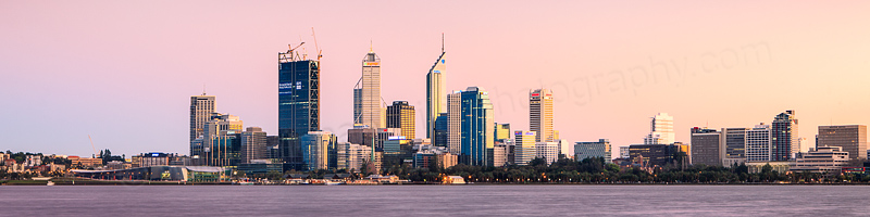 Perth and the Swan River at Sunrise, 12th September 2011