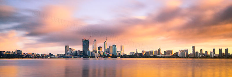 Perth and the Swan River at Sunrise, 13th September 2011