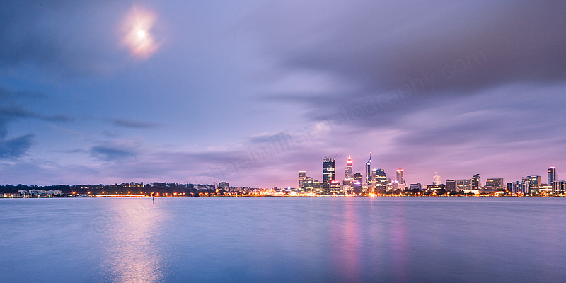 Perth and the Swan River at Sunrise, 16th September 2011