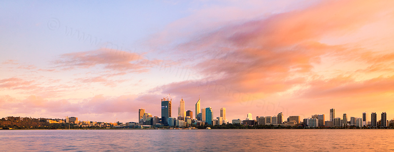 Perth and the Swan River at Sunrise, 17th September 2011