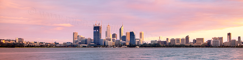 Perth and the Swan River at Sunrise, 21st September 2011