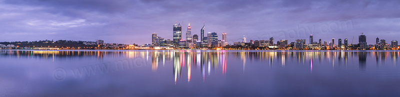 Perth and the Swan River at Sunrise, 22nd September 2011