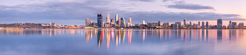 Perth and the Swan River at Sunrise, 23rd September 2011