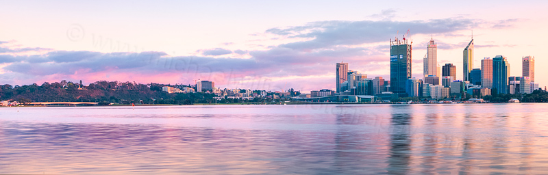 Perth and the Swan River at Sunrise, 25th September 2011