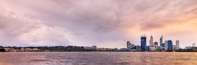 Perth and the Swan River at Sunrise, 26th September 2011