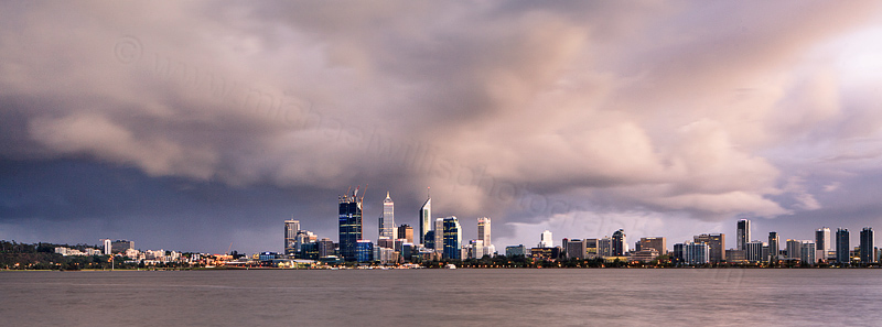 Perth and the Swan River at Sunrise, 27th September 2011