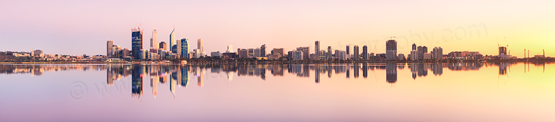Perth and the Swan River at Sunrise, 29th September 2011