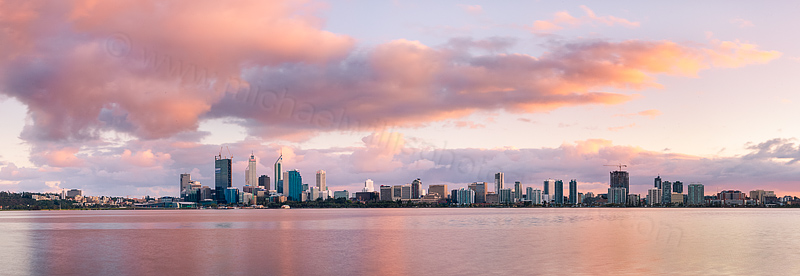 Perth and the Swan River at Sunrise, 3rd September 2011