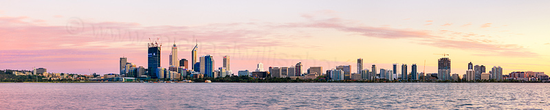 Perth and the Swan River at Sunrise, 30th September 2011