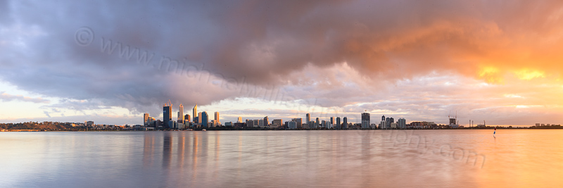 Perth and the Swan River at Sunrise, 5th September 2011