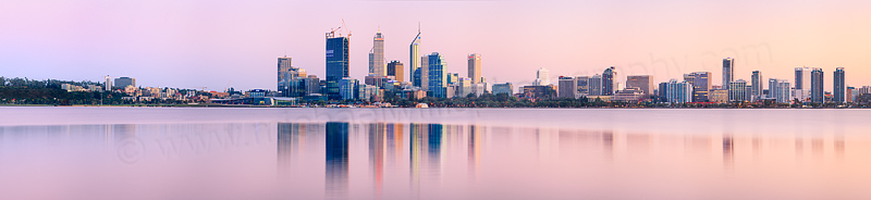 Perth and the Swan River at Sunrise, 6th September 2011