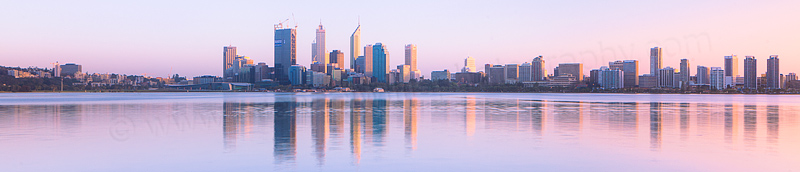 Perth and the Swan River at Sunrise, 7th September 2011
