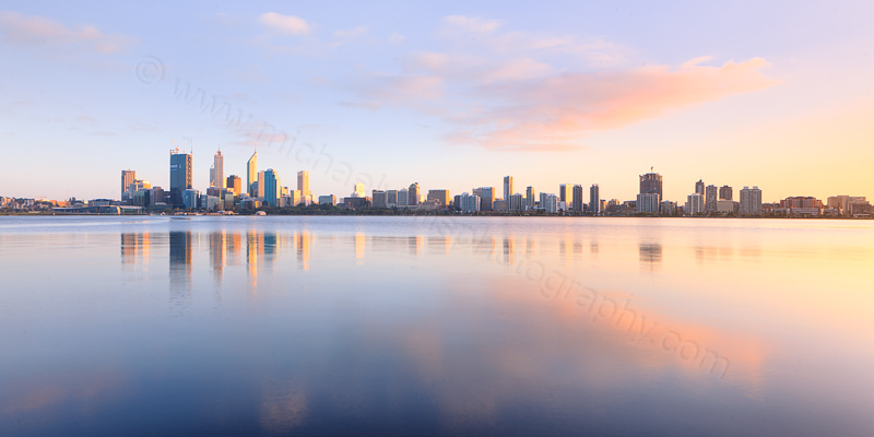 Perth and the Swan River at Sunrise, 8th September 2011