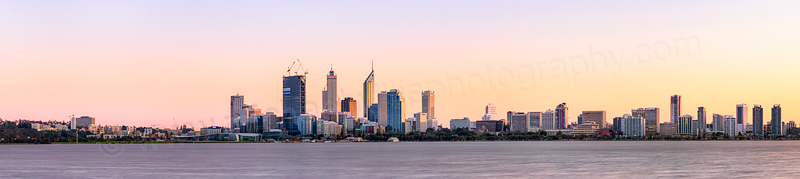 Perth and the Swan River at Sunrise, 12th August 2011