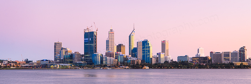 Perth and the Swan River at Sunrise, 9th September 2011