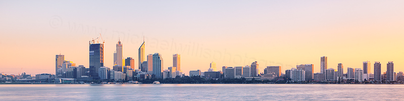 Perth and the Swan River at Sunrise, 1st September 2011
