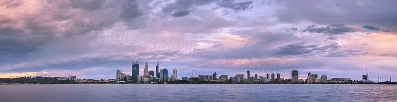 Perth and the Swan River at Sunrise, 1st October 2011