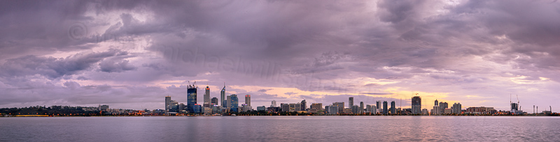 Perth and the Swan River Sunrise, 2nd October 2011