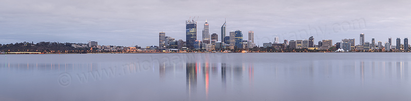 Perth and the Swan River at Sunrise, 4th October 2011