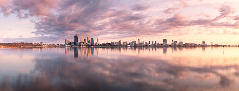 Perth and the Swan River at Sunrise, 6th October 2011