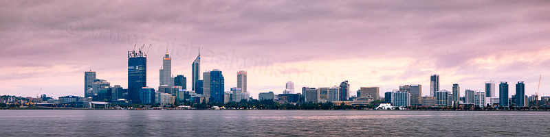 Perth and the Swan River at Sunrise, 8th October 2011