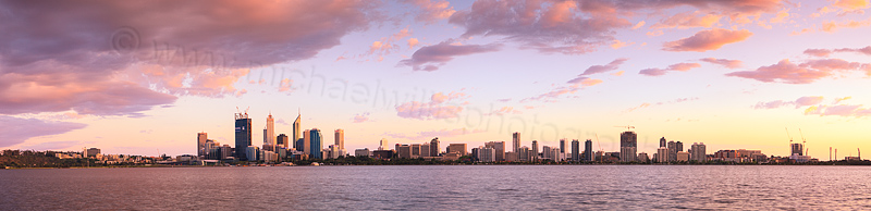 Perth and the Swan River at Sunrise, 10th October 2011