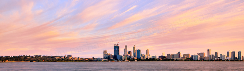 Perth and the Swan River at Sunrise, 16th October 2011