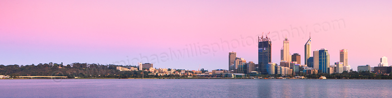 Perth and the Swan River at Sunrise, 19th October 2011