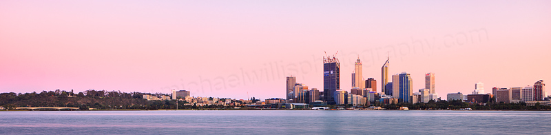 Perth and the Swan River at Sunrise, 20th October 2011