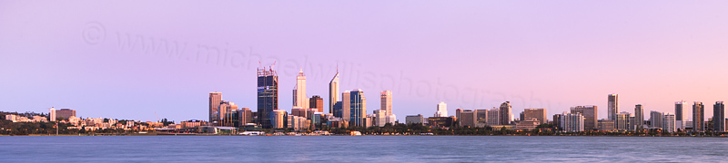 Perth and the Swan River at Sunrise, 21st October 2011