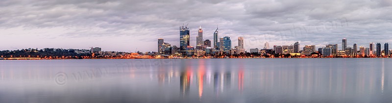 Perth and the Swan River at Sunrise, 23rd October 2011