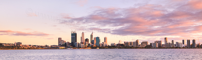 Perth and the Swan River at Sunrise, 24th October 2011