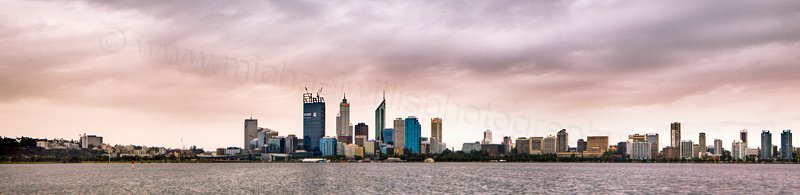 Perth and the Swan River at Sunrise, 25th October 2011