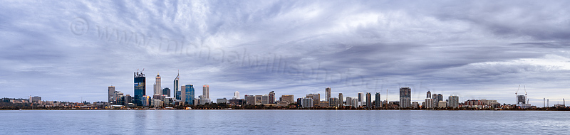 Perth and the Swan River at Sunrise, 26th October 2011