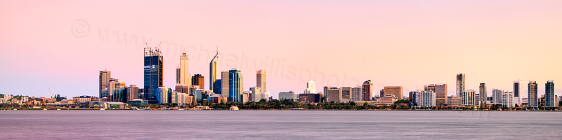 Perth and the Swan River at Sunrise, 29th October 2011