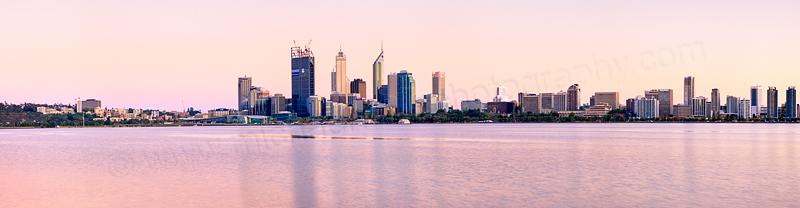 Perth and the Swan River at Sunrise, 30th October 2011