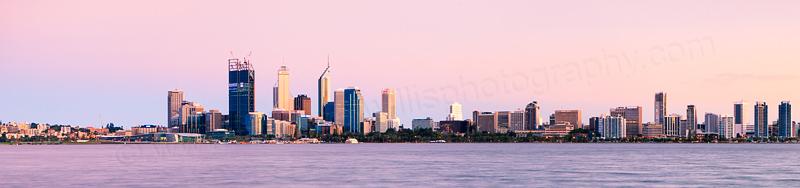 Perth and the Swan River at Sunrise, 2nd November 2011