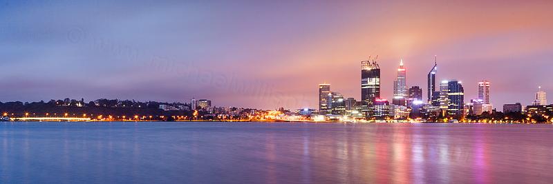 Perth and the Swan River at Sunrise, 4th November 2011