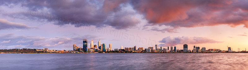 Perth and the Swan River at Sunrise, 5th November 2011