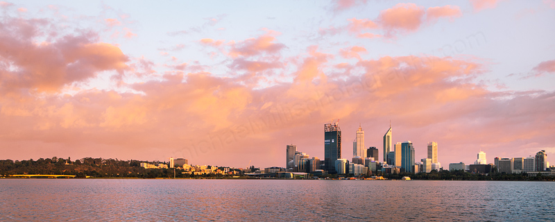 Perth and the Swan River at Sunrise, 9th November 2011