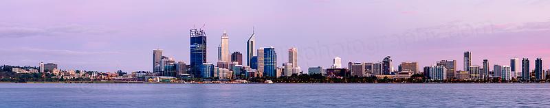 Perth and the Swan River at Sunrise, 10th November 2011
