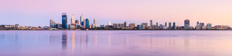 Perth and the Swan River at Sunrise, 12th November 2011